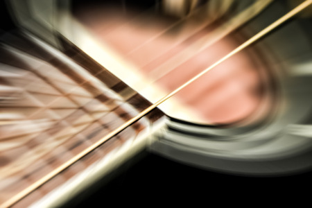 vibrating: acoustic guitar motion blur of vibrating strings