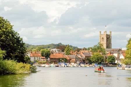 Henleyonthames pittoresques en Angleterre Banque d'images - 39494865