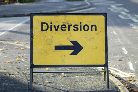 diversion: diversion sign with arrow pointing right