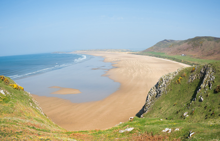 voted: Rhossili Bay, often voted as one of the best beaches in Europe