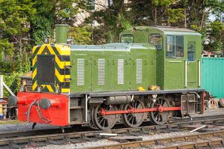 diesel: vintage goods-yard diesel locomotive, circa 1960