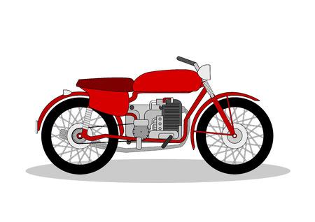 motorbike: vintage motorbike illustration on white Illustration