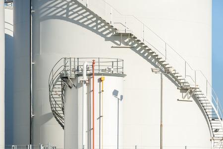 fuel storage: large industrial fuel storage depot detail
