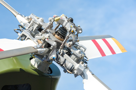 rotor: close-up of helicopter tail rotor blades