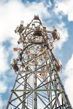 airwaves: HDR communications tower abstract