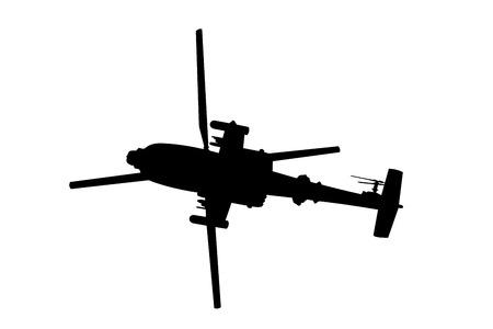 ホワイトのヘリコプター ヘリコプターのシルエット イラスト  イラスト・ベクター素材
