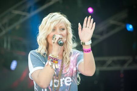 British pop star Alexa Goddard performing at the GOTG Festival in her home town of Yateley, UK - June 30, 2012 Editorial