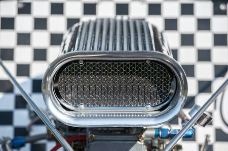 supercharger air scoop on a high performance racing vehicle Standard-Bild