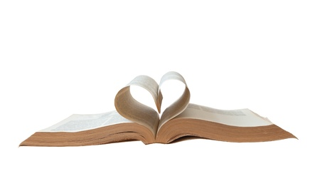 Book with the heart  photo