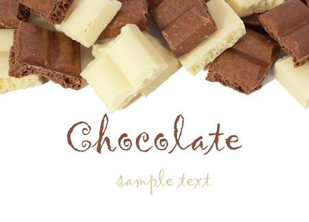 honeycombed: chocolate isolated on white background