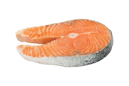 epicure: Salmon isolated on white background  Stock Photo