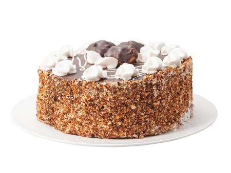 unsliced: Cake isolated on white background