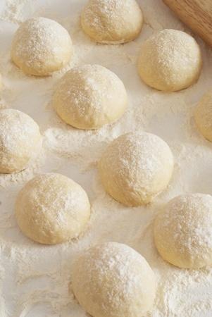 Balls of dough photo