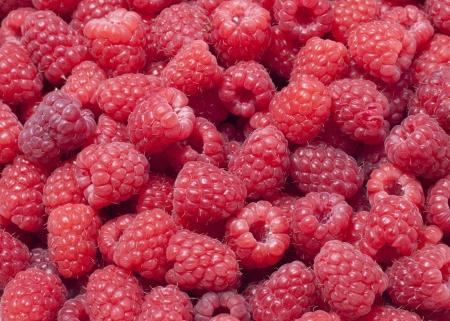 sweet fresh raspberries closeup Stock Photo