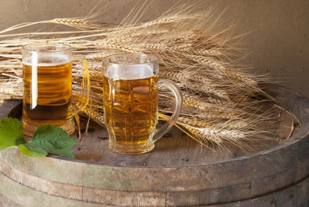 still life with beer Stock Photo - 14249086