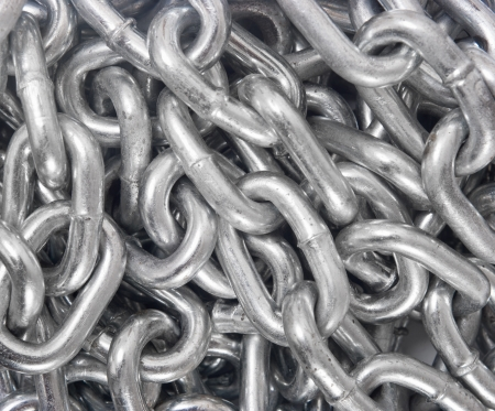 Chain close-up as texture . Stock Photo - 14733228