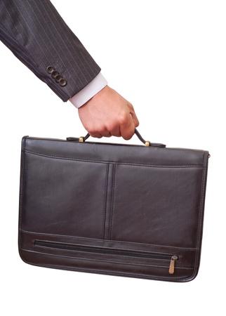 Casual Man met in de hand een aktetas