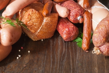 Assortment of cold meats photo