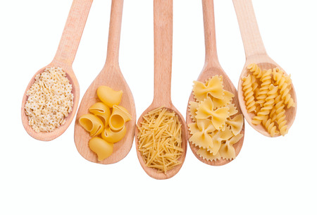 Pasta isolated on white background. With clipping path included. photo