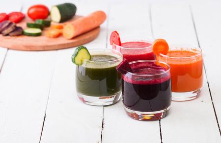Vegetable juice (carrot, beet, cucumber, tomato) Banco de Imagens - 32637743