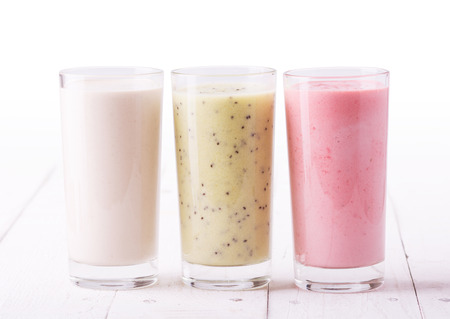 Fruit smoothies with  strawberry, kiwi & banana