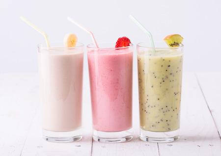 licuado de platano: Batidos de frutas con fresas, kiwi y pl�tano
