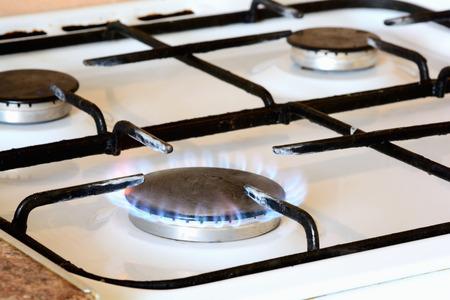 burner gas stove close-up .