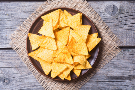 Snack for party , chips , nachos