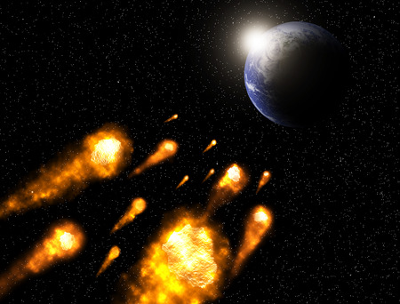collide: asteriod collide to the earth