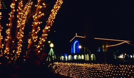 guam: Christmas illuminations of Guam Stock Photo