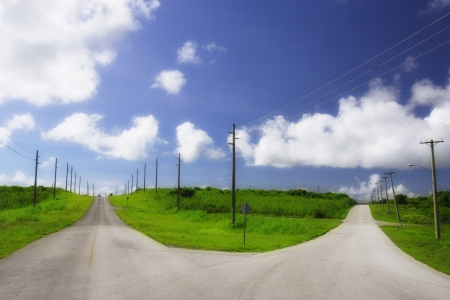 forked road: Fork in the road of the road fork of Guam