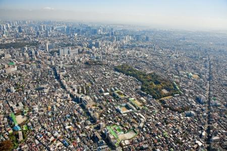 summarized: Tokyo Street Full in empty summarized Meguro over Yori Shinagawa, the  Odaiba, the AzabuArea in hope  empty summarized