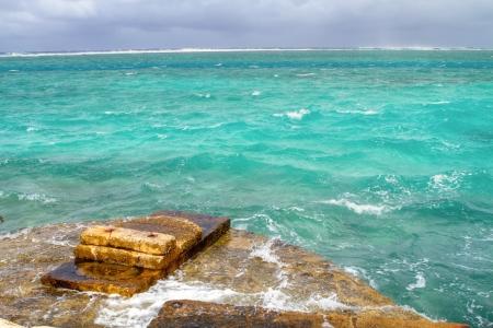 guam: Stormy sea beach of Guam