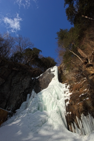 riverine: waterfall deep in the mountains of freezing