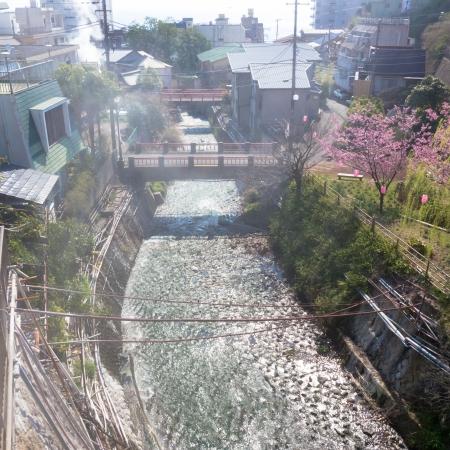 riverine: Views of the hot spring Izuatsugawa