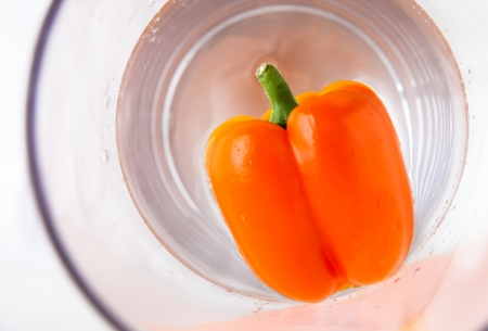 submerging: Paprika orange Stock Photo