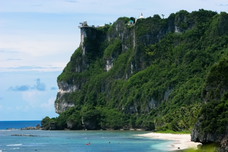 guam: Guam Two Lovers Point Stock Photo