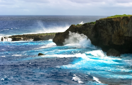 Saipan Banzai Cliff Stock Photo