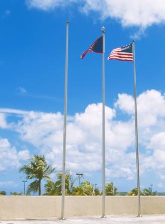 guam: Flag of Guam and American Flag