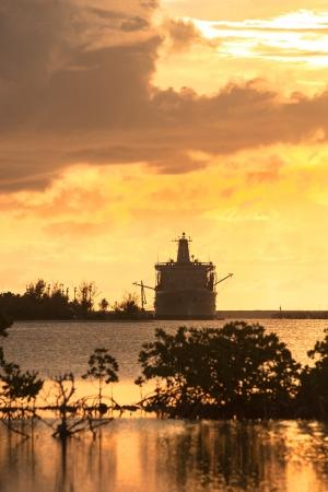 guam: Sunset of Guam Apra Harbor Stock Photo
