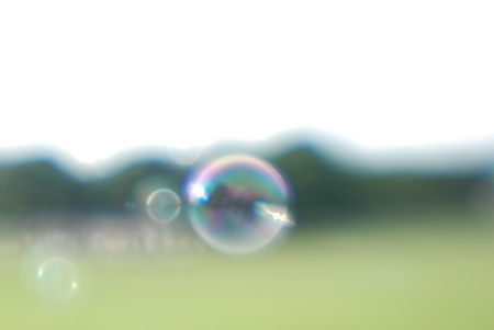 tremble: Soap bubbles and sun Stock Photo