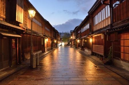 Sunset of Higashichaya town