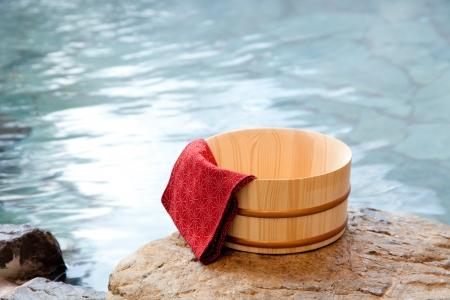en suite: Open-air bath and barrel