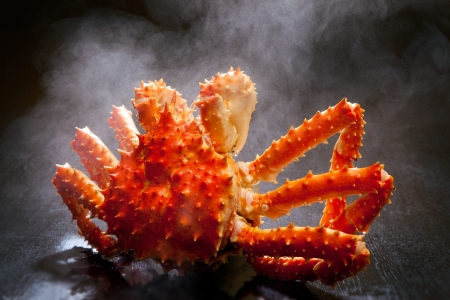 King crab that went up in hot water