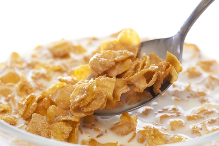 cornflakes: Cornflakes Stock Photo