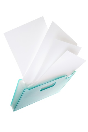 paper case: Blank paper and document case