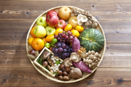 Food collection of autumn photo