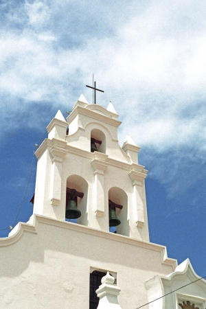 itinerant: White church in Sucre