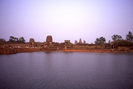 itinerant: Landscape of Angkor Wat Stock Photo