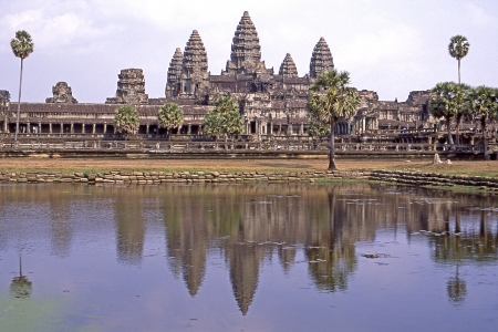 itinerant:  landscape of Angkor Wat Stock Photo